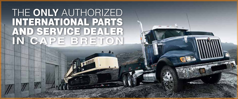 The Only Authorized International Parts and Service Dealer in Cape Breton | blue truck